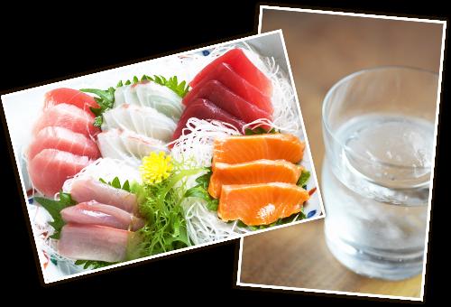 新鮮な魚と種類豊富な日本酒